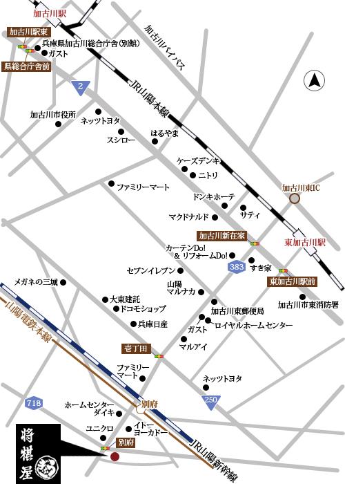 兵庫県加古川市別府町本町1-8の地図
